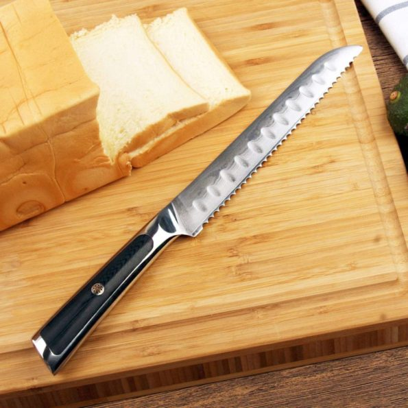 Kitchen Knife 8 Inch Bread Knife Japanese Damascus High Carbon