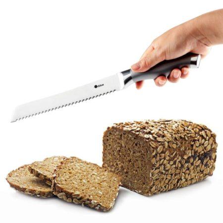 ORBLUE Serrated Bread Knife, Ultra-Sharp Stainless Steel Bread Cutter - one