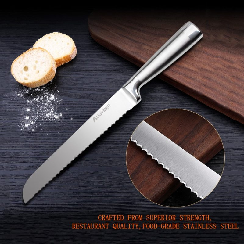 Slicing Knife: Serrated Bread Slicer Knife, Stainless Steel Cake Slicing