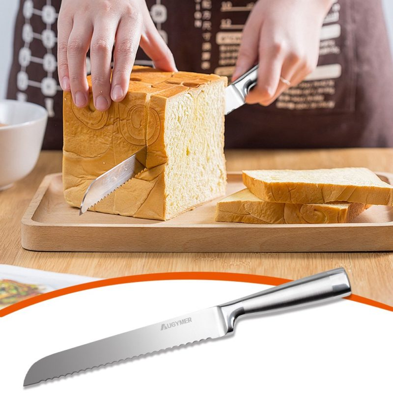 Serrated Bread Slicer Knife Stainless Steel Cake Slicing