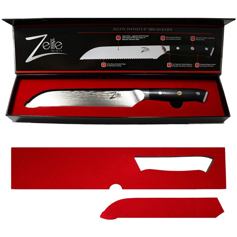 Zelite Infinity Bread Knife 8 Inch Alpha Royal Series